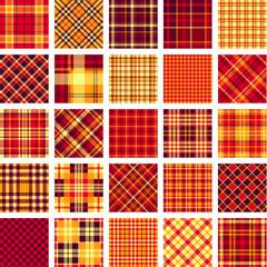 B&W big plaid pattern set