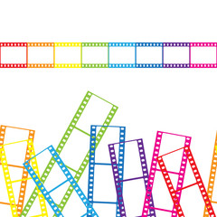 Abstract background with a film strip. Vector illustration.