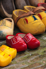 Vintage Dutch wooden clogs