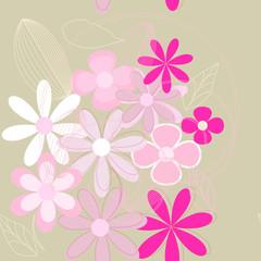 Seamless flower background (eps 10)