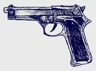 Handgun close-up