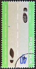 scheme for foot-passenger, explaining rules of the road