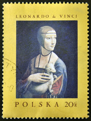 painting of Leonardo da Vinci - Lady with an Ermine