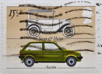 British cars Seven & Metro and Austin