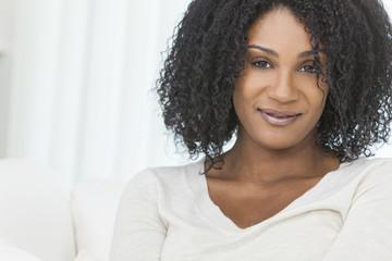 Beautiful Smiling African American Woman