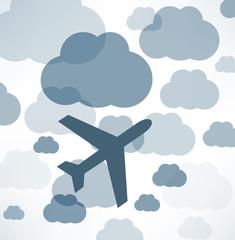 Foto op Plexiglas Hemel airplane in the sky