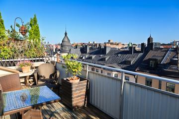rooftop terrace, Stockholm