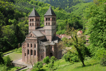 France, the roman abbey of Murbach in Alsace