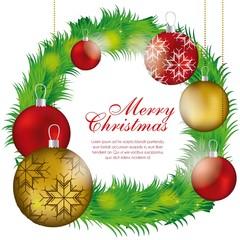 Illustration of Christmas wreath