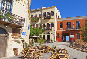 Chania city at Crete island in Greece