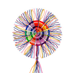 colorful cotton threads with color wheel