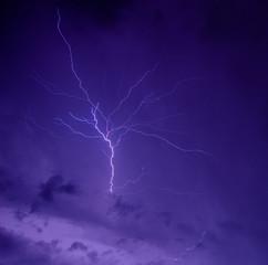 Foto op Canvas Onweer lightning sky