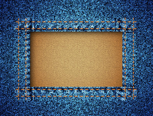 Jeans texture with frame