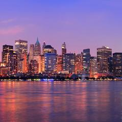 Wall Mural - New York City Manhattan dusk panorama