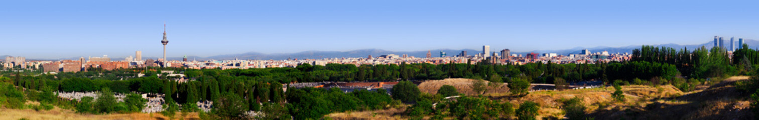 Big Panorama of Madrid Skyline