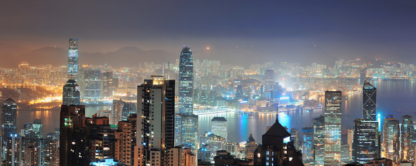 Fototapete - Hong Kong at night