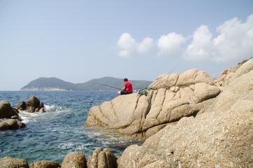 Pescatore all'isola d'elba