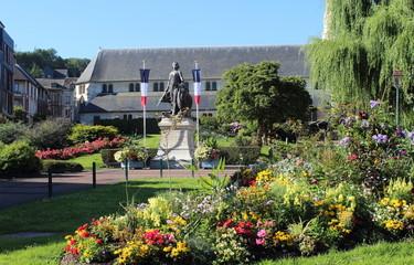 Statue à Honfleur, France Fotomurales
