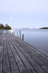 Pier and moon