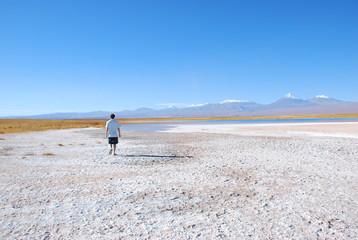 Laguna Sejar, Atacma Desert, People Exploring