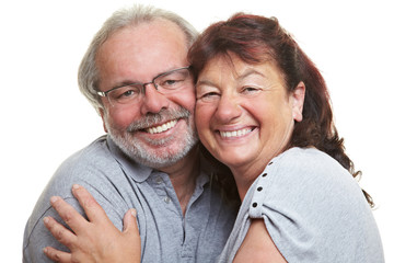 Lachendes Seniorenpaar