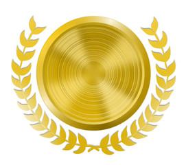 Goldmedaille mit Lorbeerkranz