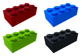Wall Mural - 3D lego blocks isolated