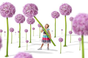 Kind auf der Blumen Wiese - Märchenwald
