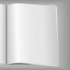Close-up of blank magazine page