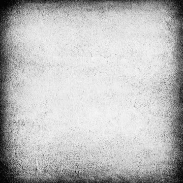 white wall grunge background with dark frame vignette