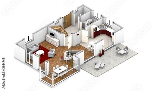 Grundriss einfamilienhaus modern 3d  3d grundriss