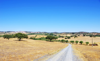 Rural landscape of alentejo village, Portugal