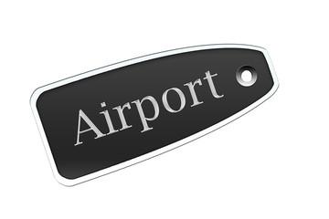 Etiqueta airport negro