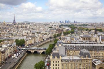 Paris skyline and Seine River, France