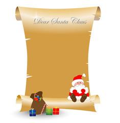 Parchment gold Christmas