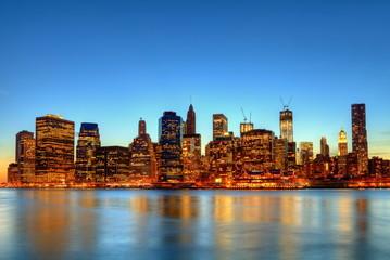 Wall Mural - Lumière crépusculaire à New York.