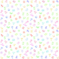 Animal letters background for children