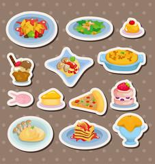 cartoon Italian food stickers