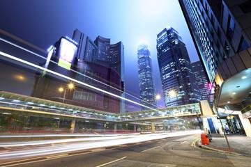 traffic in city at night