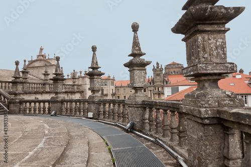 tejados de la catedral de santiago de compostela fotos