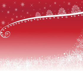 Christmas background white on red