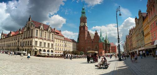 Fototapeta Gotycki Ratusz w centrum Wrocławia obraz