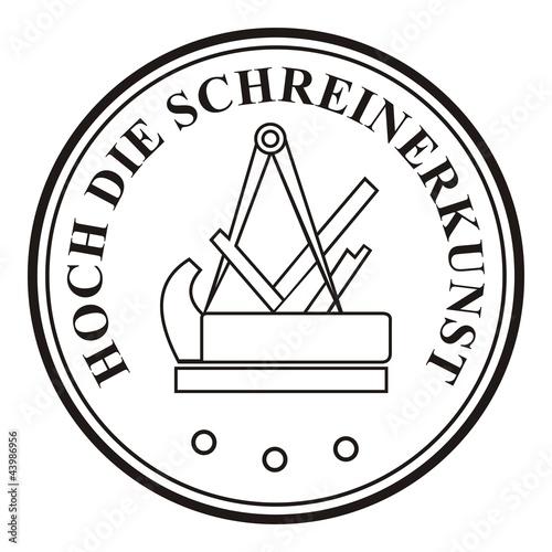 Die Schreiner hoch die schreinerkunst schreiner symbol zeichen emblem