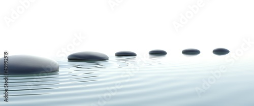 Fototapete Zen path of stones in widescreen