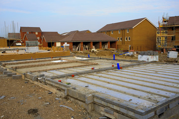 Construction of new houses with barrier