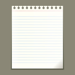 Vector page of notepad