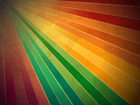 retro rainbow grunge starburst