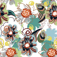 Canvas Prints Abstract Floral seamless floral pattern