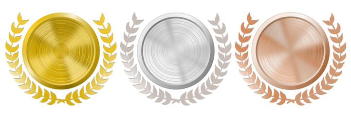 Medaillen Set Lorbeer