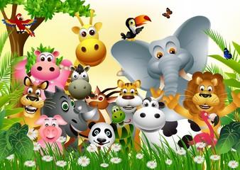 Obraz Zabawne zwierzątka - fototapety do salonu